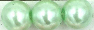 04 Pastel green - glass pearls - beads - all sizes